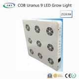 La mazorca de alto rendimiento Urano 9 LED de luz para crecer plantas medicinales