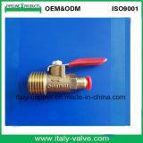 Auto mini válvula de esfera de bronze forjada (AV-PV-2005)