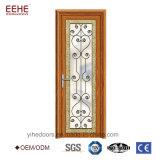 Portes en verre en verre de garantie de porte de bâti en aluminium de salle de séjour