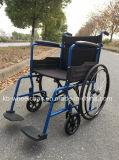 Estilo europeo, plegamiento, sillón de ruedas manual de acero