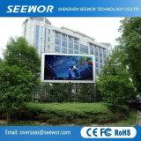 Hohe Helligkeit P6mm im Freien örtlich festgelegte LED-Bildschirmanzeige mit vorteilhaftem Preis