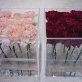 Коробка цветка плексигласа коробки хранения цветка поставщика золота Anhui Yageli акриловая