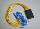 1X16 divisor óptico del PLC de fibra del ABS FTTX