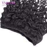 Jungfrau-Haar-Menschenhaar-Extensions-Italien-lockiges Haar-Webart des Großhandelspreis-100