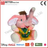안전 견면 벨벳 박제 동물 아기 아이를 위한 연약한 코끼리 장난감
