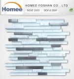 Glace de salle de bains normale et mosaïque métalliques de pierre
