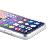 para el caso del iPhone X IMD, el caso transparente duro plástico claro de la contraportada Anti-Rasguña el caso de parachoques suave flexible de TPU para el iPhone X