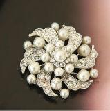 Rhinestone del diamante del burlone di modo del Brooch e Brooch all'ingrosso della perla (BR-19)