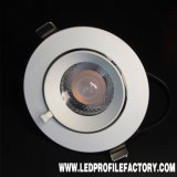 Bloc d'alimentation pur DEL Downlight de l'aluminium 7W SMD de qualité de Hight
