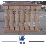 De aangepaste Beige Marmeren Baluster van de Steen voor openlucht of BinnenDecoratie