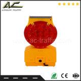 O tipo lâmpada solar portátil pública da cubeta da barricada da segurança de estrada do tráfego