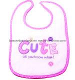 OEM de fábrica de producir algodón bordado personalizado Terry bebé baberos de desgaste