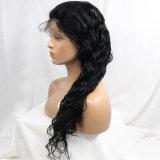 Parrucca piena superiore del merletto dei capelli umani dell'onda del corpo del brasiliano di Dlme 100% per le donne di colore