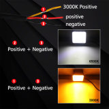 도매 4.3 인치 두 배 색깔 백색 황색 3000K 6500K 크리 사람 Offroad 자동 사각 LED 모는 일 빛