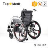 Ausrüstungs-Aluminium, das elektrischer Strom-Rollstuhl für ältere Menschen faltet
