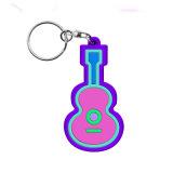 Zoll gedruckter weicher Gummi Keychains Belüftung-3D