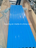 Metal ondulado da cor que telha folhas onduladas do telhado de PPGI/PPGL