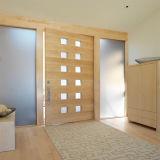 Porta da madeira contínua da entrada da porta da rua da boa qualidade do projeto da porta principal