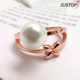 Het nieuwe Ontwerp nam de Goldtone Gecultiveerde Natuurlijke Zoetwater Witte Ring van de Juwelen van de Vrouwen van de Parel toe