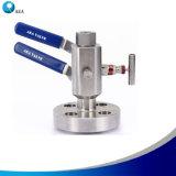 Vielfältiger doppelter Block des China-Hersteller-SS316 Monoflange und Ablassventil
