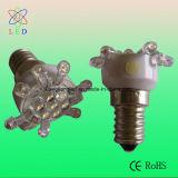 Bulbo comprable del precio LED E10 E14 0.5W, bombilla de la hospitalidad del LED E10 E14, bulbo de la muestra del LED E10 E14