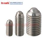 DINの高精度のステンレス鋼の球のばねのプランジャ