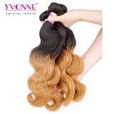 Weave peruano do cabelo ondulado do corpo da cor de Ombre da forma de Yvonne