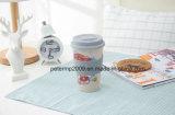 Tazza di caffè ecologica della fibra del frumento di 100% con il coperchio ed il supporto di Silione