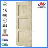 Glace glissant la porte de grange de douche en bois solide