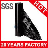 Venda por grosso de película de plástico preta película extensível