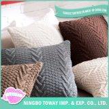 Sofa-Kissen flocht klumpigen strickenden dekorativen kundenspezifischen Throw-Kissen-Deckel