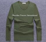 Col V Tshirt à manchon long pour l'homme