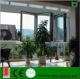 Finestra di alluminio e finestra piegante con vetro Tempered