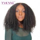 イボンヌのレースの前部かつらのアフリカのねじれた巻き毛の人間のバージンの毛