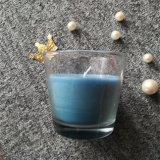 زرقاء محلّيّ واضحة زجاجيّة مرطبان شمعة مع [سمتا]
