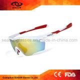 卸し売り方法ミラーコーティングの紫外線保護屋外スポーツの循環の実行バレーボールのサングラスを運転する