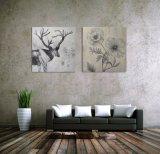 De abstracte Met de hand gemaakte Decoratie van het Huis van het Zeegezicht van de Bloem van het Olieverfschilderij