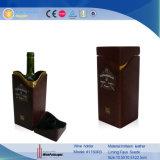 Verpakkende Doos van de Wijn van de Fles van het Leer van de douane Pu de Enige (1150)