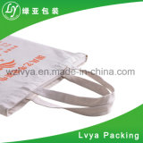High Quality Recycle Cheap Custom Logo Natural Cotton Canvas Tote Book Bag/Handle Scool Canvas Bag