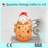 Держатель ручки свечки конструкции человека снежка кораблей рождества смолаы для напольного украшения
