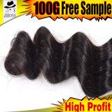 Usine éthiopienne de cheveu de Qingdao de Vierge de la pente 9A