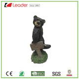 Resina de vendas superior suportar com a estátua de flores para decoração de jardim
