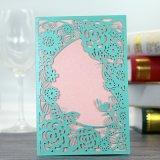 Perlen-Papierlaser-Schnitt-Hochzeits-Einladungs-Karte