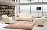 Zona de asientos de madera de diseño moderno de ocio Home sofá de cuero de PU