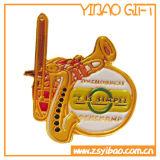 Magnético de alta qualidade personalizado crachá de ouro com o pino presilha (YB-LY-C-46)