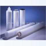 Cartuccia di filtro pieghettata aria dai 0.22 micron PVDF 20 pollici con la memoria dell'acciaio inossidabile