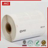 Papier thermosensible adhésif en gros d'étiquette d'expédition d'usine