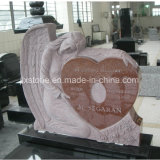 Het robijnrode Rode Monument van het Ontwerp van de Engel van het Graniet