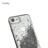 para o caso magro do iPhone 7, líquido de fluxo que flutua o caso abundante luxuoso do caso TPU da faísca do Glitter de Bling para o telefone do iPhone 7