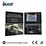 Venta caliente de vídeo en pantalla LCD de 2,4 pulgadas Brochure-Video Folleto para Negocios